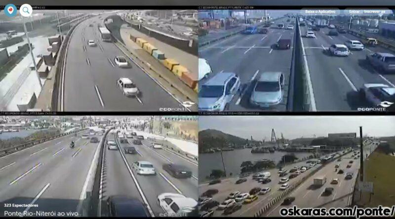 Ponte Rio Niterói ao vivo online transito câmera
