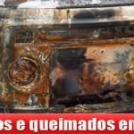 Carros queimados em São Gonçalo