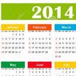 Calendário 2014 impressão excel word