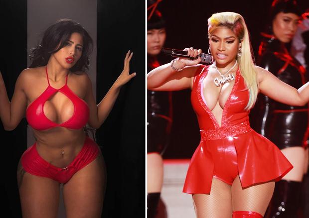 Nicki Minaj antes e depois